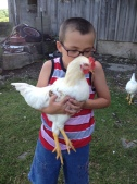 You don't think Little Dude missed his favorite rooster while we were gone, do you?
