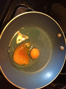 I was right... it was a double yolk!