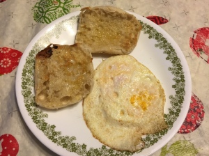 I cooked it up this morning for breakfast.  They taste sooooo much better than store eggs, even if they are tiny right now.